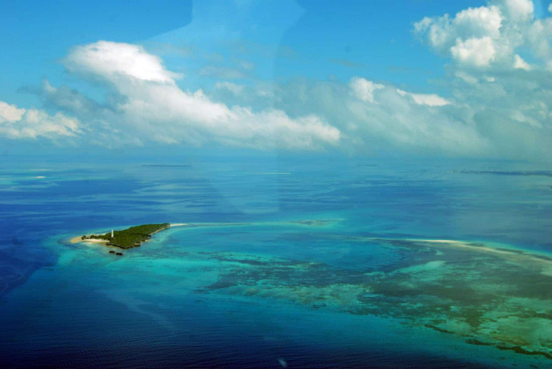 Arial view of Zanzibar Island