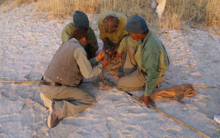 Firemaking at The Bushman