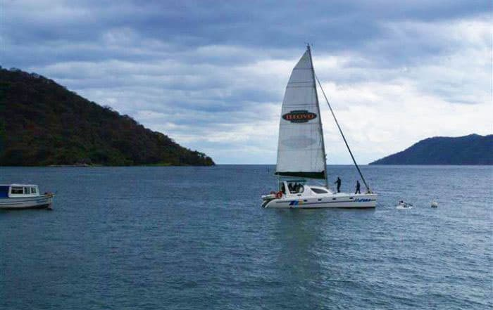 Sailing through Lake Malawi National Park