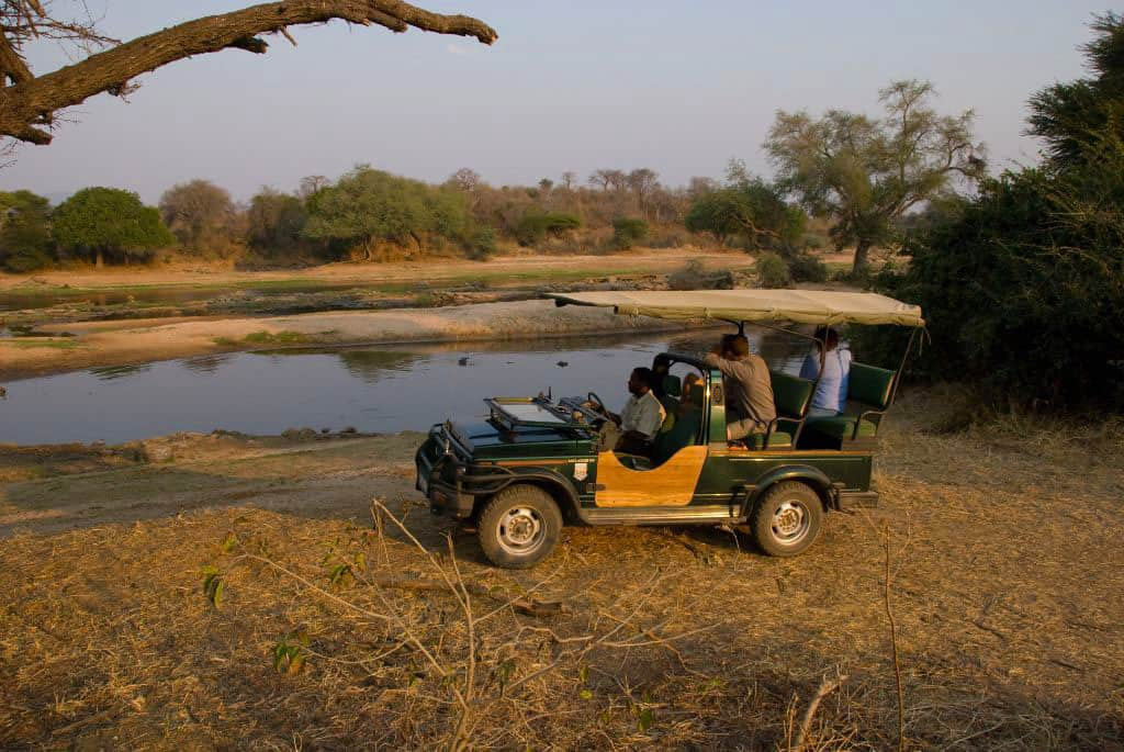 Game driving in Ruaha National Park
